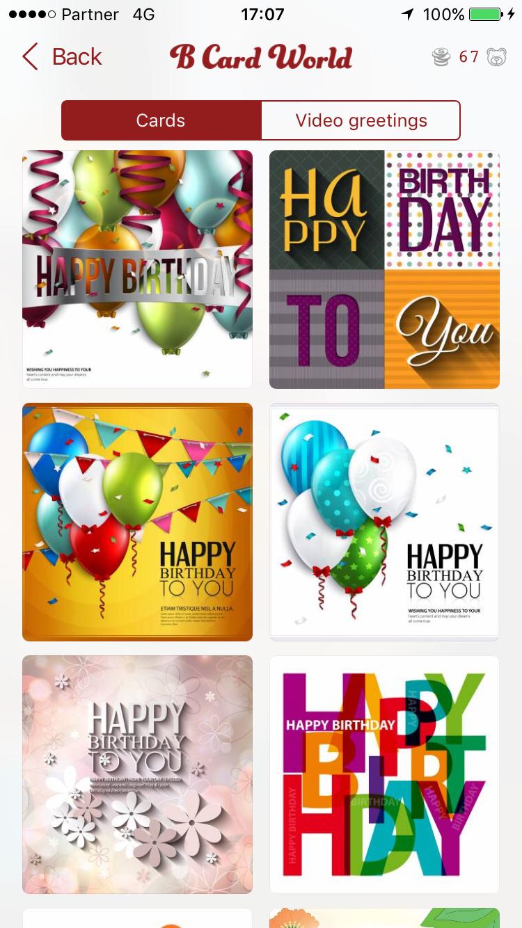 Birthday Cards World App Birthday Cards World Official Site